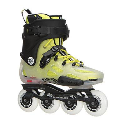 Rollerblade Twister X Urban Inline Skates 2017, Translucent-Fluorescent Yellow, viewer