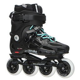 Rollerblade Twister 80 Womens Urban Inline Skates 2017, Black-Light Blue, 256