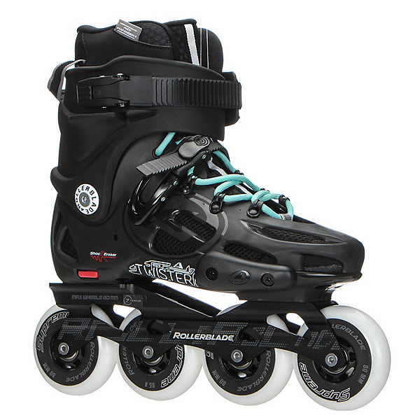 Rollerblade Twister 80 Womens Urban Inline Skates 2017, Black-Light Blue, 600