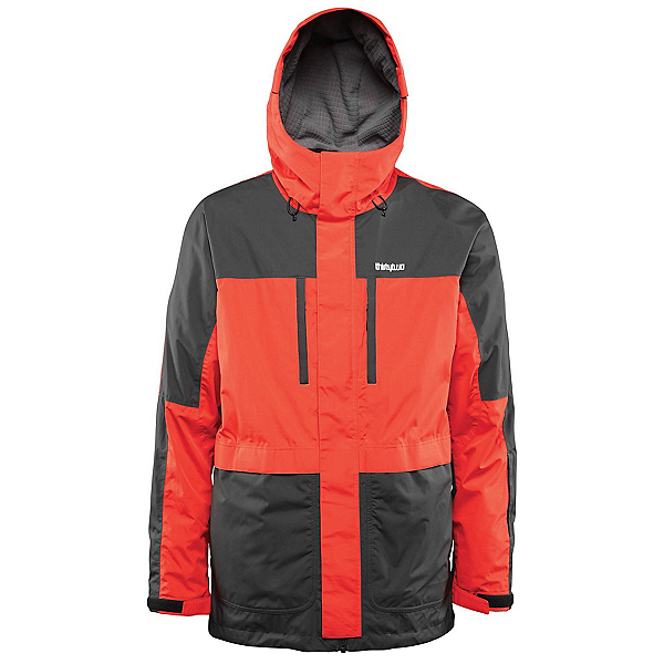ThirtyTwo Blythe Mens Shell Snowboard Jacket, Tangerine, 600