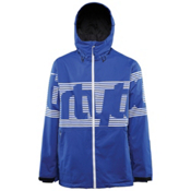 ThirtyTwo Lowdown Mens Shell Snowboard Jacket, Blue, medium