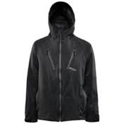 ThirtyTwo Welkin 2 Mens Shell Snowboard Jacket, Black-Black, medium