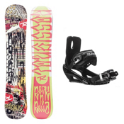 Rossignol RocknRolla AmpTek Stealth 3 Snowboard and Binding Package, , medium