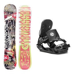 Rossignol RocknRolla AmpTek Five Hybrid Snowboard and Binding Package, , 256