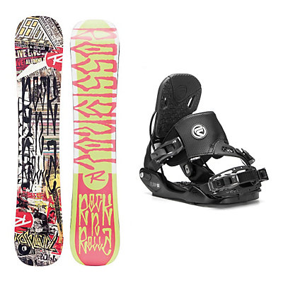 Rossignol RocknRolla AmpTek Five Hybrid Snowboard and Binding Package, , viewer