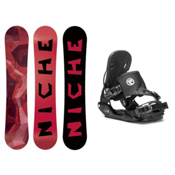 Niche Knew Five Hybrid Snowboard and Binding Package, , medium