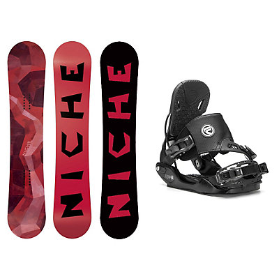 Niche Knew Five Hybrid Snowboard and Binding Package, , viewer