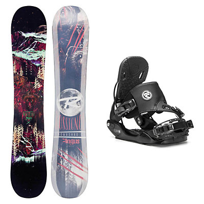 Rossignol Angus MagTek Five Hybrid Snowboard and Binding Package, , viewer