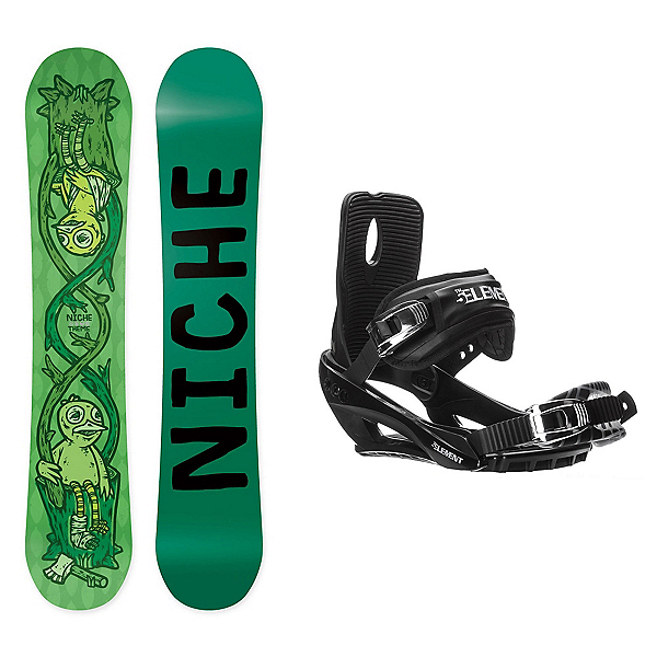 Niche Theme Stealth 3 Snowboard and Binding Package, , 600