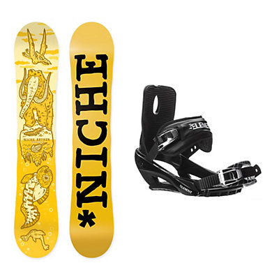 Niche Aether Stealth 3 Snowboard and Binding Package, , viewer
