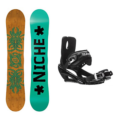 Niche Story Camber Stealth 3 Snowboard and Binding Package, , viewer
