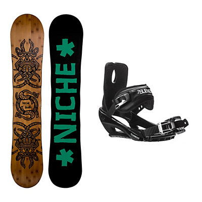 Niche Story 2.0 Stealth 3 Snowboard and Binding Package, , viewer