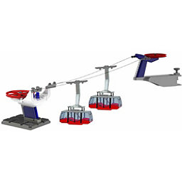 Model Ski Lifts Two Gondola Tramway 2017, Red, 256