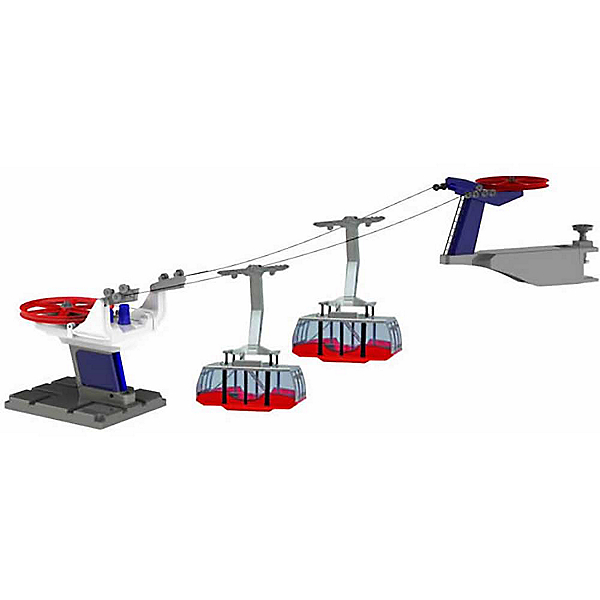 Model Ski Lifts Two Gondola Tramway 2017, Red, 600
