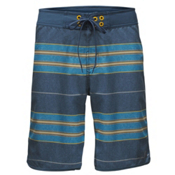 The North Face Whitecap 10 Inch Mens Board Shorts, Shady Blue Chambray Stripe, medium