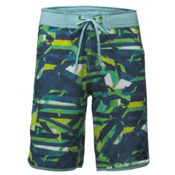 The North Face Whitecap 10 Inch Mens Board Shorts, Urban Navy Boardwalk Print, medium