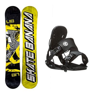 Lib Tech Skate Banana Narrow Five Snowboard and Binding Package, , viewer