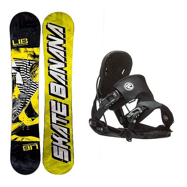 Lib Tech Skate Banana Narrow Five Snowboard and Binding Package, , 600