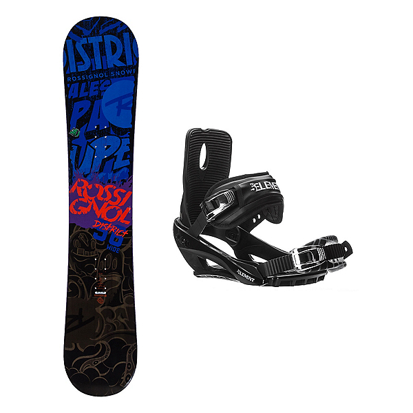 Rossignol District AmpTek Stealth 3 Snowboard and Binding Package, , 600