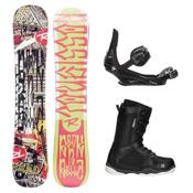 Rossignol RocknRolla AmpTek ST-1 Complete Snowboard Package, , medium