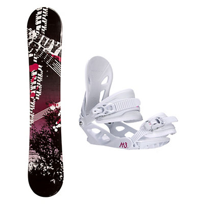 Joyride Bush Pink Solstice 4 Womens Snowboard and Binding Package, , viewer