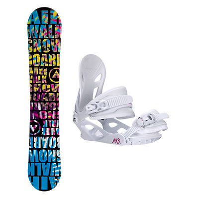 Airwalk Laser Blue Solstice 4 Womens Snowboard and Binding Package, , viewer