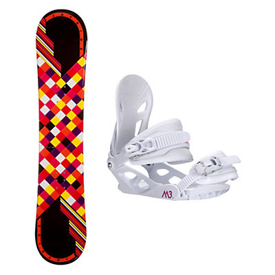 Joyride Checkers Black Rocker Solstice 4 Womens Snowboard and Binding Package, , viewer