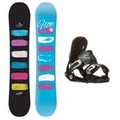 Flow Silhouette Minx Womens Snowboard and Binding Package, , medium
