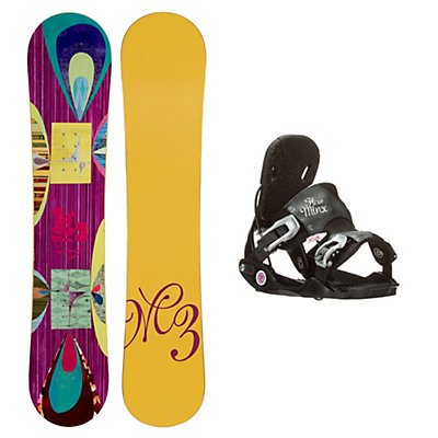 Millenium 3 Escape Minx Womens Snowboard and Binding Package, , viewer