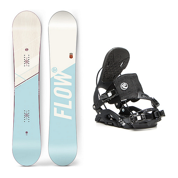 Flow Canvas Juno Hybrid Womens Snowboard and Binding Package, , 600