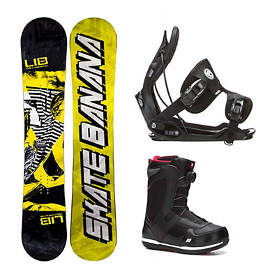 Lib Tech Skate Banana Narrow Seem Complete Snowboard Package, , viewer