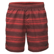 The North Face Guide Pull-On Trunk Mens Board Shorts, Sunbaked Red Static Stripe, medium