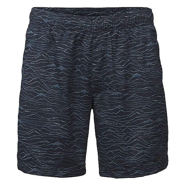 The North Face Guide Pull-On Trunk Mens Board Shorts, Urban Navy Mountain Scape Prin, 600