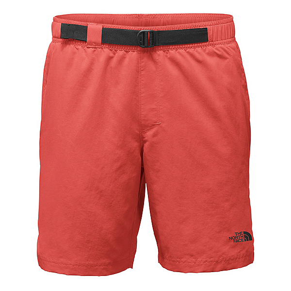 The North Face Belted Guide Trunk Mens Board Shorts, Sunbaked Red, 600