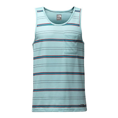The North Face Crag Tank Mens Tank Top, Blizzard Blue Heather Stripe, viewer
