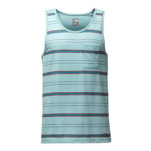 The North Face Crag Tank Mens Tank Top, Blizzard Blue Heather Stripe, 600