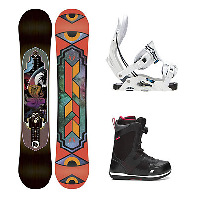 K2 Fastplant Seem Complete Snowboard Package, , viewer