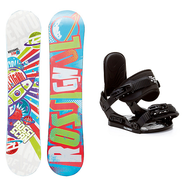 Rossignol Scan AmpTek Stealth Kids Snowboard and Binding Package, , 600