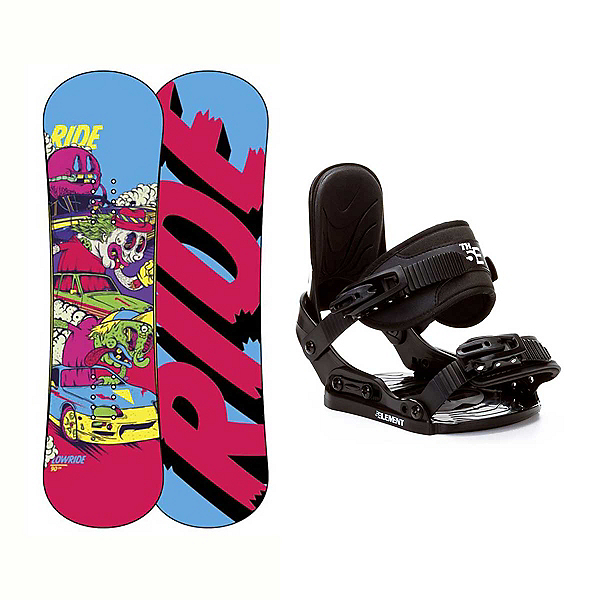 Ride Lowride Stealth Kids Snowboard and Binding Package, , 600