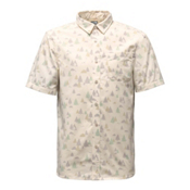 The North Face Short Sleeve Pursuit Mens Shirt, Vintage White Sasquatch Print, medium