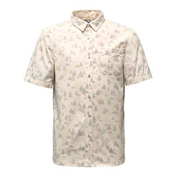 The North Face Short Sleeve Pursuit Mens Shirt, Vintage White Sasquatch Print, 256