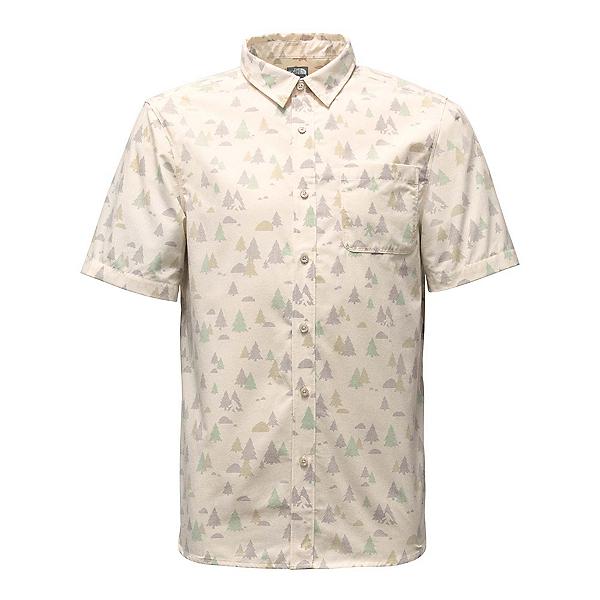 The North Face Short Sleeve Pursuit Mens Shirt, Vintage White Sasquatch Print, 600