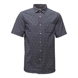 The North Face Short Sleeve Pursuit Mens Shirt, Urban Navy Uncharted Print, 256