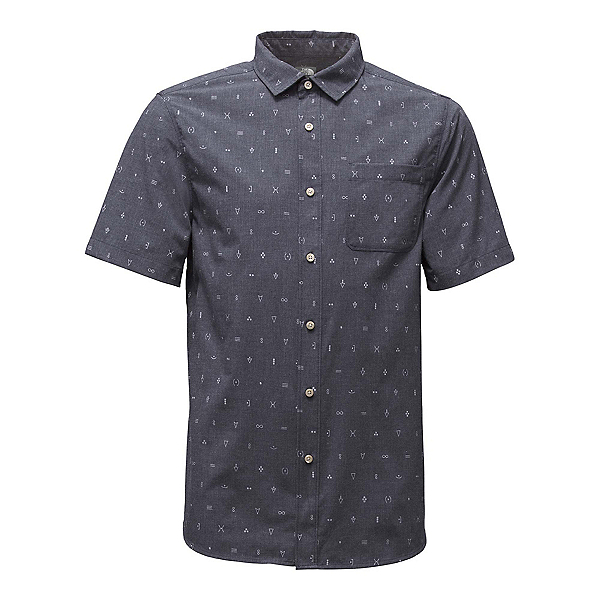 The North Face Short Sleeve Pursuit Mens Shirt, Urban Navy Uncharted Print, 600