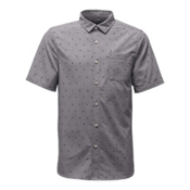 The North Face Short Sleeve Pursuit Mens Shirt, Zinc Grey Uncharted Print, medium