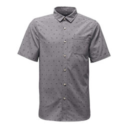 The North Face Short Sleeve Pursuit Mens Shirt, Zinc Grey Uncharted Print, 256