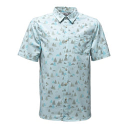 The North Face Short Sleeve Pursuit Mens Shirt, Blizzard Blue Sasquatch Print, 256