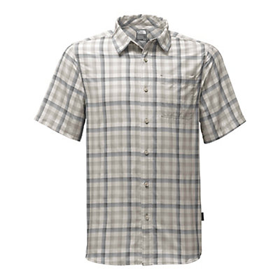 The North Face Short Sleeve Getaway Mens Shirt, Zinc Grey Plaid, viewer
