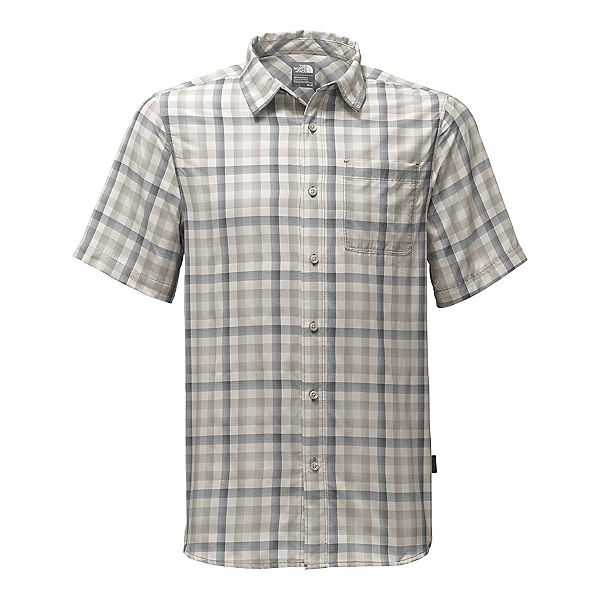 The North Face Short Sleeve Getaway Mens Shirt, Zinc Grey Plaid, 600