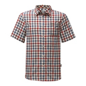 The North Face Short Sleeve Getaway Mens Shirt, Rage Red Plaid, medium
